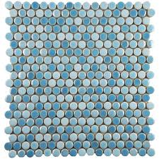 Home Depot Merola Hex Tile by Merola Tile Comet Penny Round White 11 1 4 In X 11 3 4 In X 9 Mm