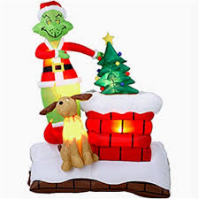 Grinch Outdoor Christmas Decorations by Grinch Blow Up Christmas Decoration Rainforest Islands Ferry
