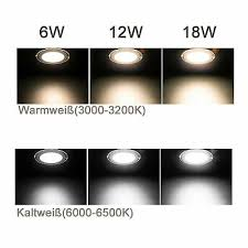 beleuchtung 6 12 18w led panel glas leuchte dimmbar