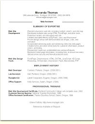 Web Assistant Resume Sample
