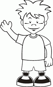 Print Happy Little Boy Coloring Page Free Printable Pages