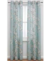 Cherry Blossom Curtain Blue by Inspire Blossom Ring Top Curtains 117x183cm Duck Egg