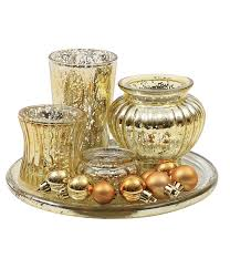 Gold Mercury Glass Bath Accessories by Candle Holders U0026 Accessories Home Decor Decorative Accessories