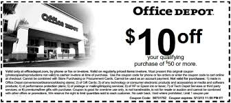 fice Depot Printable Coupon to save $10 OFF out of $50 or more