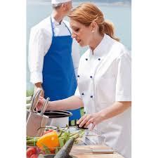 veste cuisine femme manche courte veste de cuisine femme manches courtes col officier poche