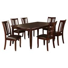 7 Piece Sturdy Dining Table Set Wood/Espresso - Furniture Of ... Piece Ding Set Light Chairs Red And Table Wicker Rooms Cream Upholstered Padded Kitchen With Amazoncom Solid Oak Room Of 2 Sturdy 7 Woodespresso Fniture What Is The Best Place To Buy Cheap But Sturdy Fniture Wooden Kids And Eertainment Chairs White Mcmola Case 50kitchen Side Better Homes Gardens Maddox Crossing Chair Brown Details About Of Wood Black Traditional Wing Back Ash Barley Velvet Fabric Parson Room Table 4 In Ch5 4wl Connahs Quay For
