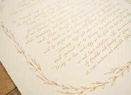 Rustic Hand Lettered Wedding Ketubah By Bright Room Studio Oh So Beautiful Paper