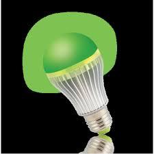 illuminati green led light bulb 5 watt