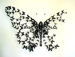 Wall Butterflies Decor Butterfly Purple