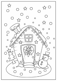 Gingerbread House Coloring Pages To Print Free Detail Description