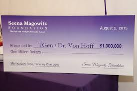 Serta Simmons Bedding Llc by Roger Magowitz Presents 1 000 000 Check To Pancreatic Cancer Research