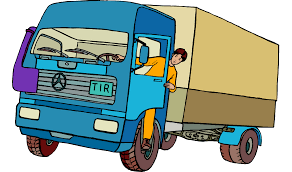 Car Dump Truck Truck Driver Clip Art - Cartoon Man Driving A Large ...