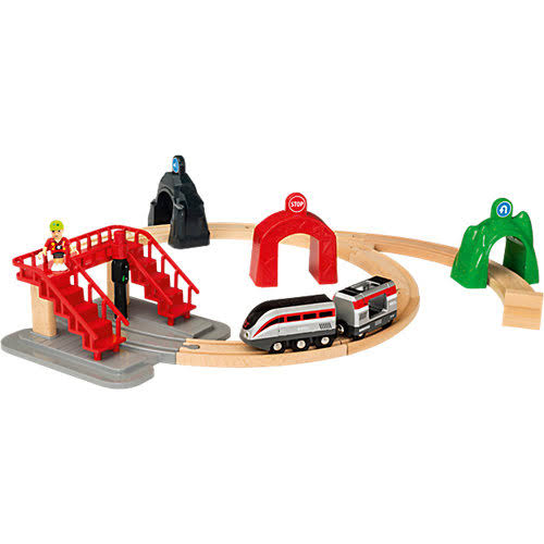 Brio Smart Tech Wooden Train Engine Toy Set