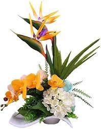 jnseaol kunstblumen künstliche blumen wohnzimmer schlafzimmer hochzeit küche dekoration keramik topf urlaub geschenk gelb 02