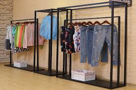 Wholesale Garment Store Children Clothing Display Racks Carpet With Rack
