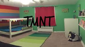 Ninja Turtle Decorations Ideas by Teenage Mutant Ninja Turtle Themed Bedroom For Toddler Youtube
