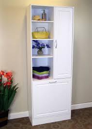 Bathroom Linen Tower Espresso by Linen Cabinet W Laundry Hamper Online Interior Design Nousdecor