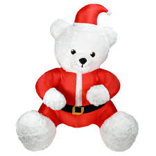 Airblown Inflatable Animated Hugging Teddy Bear 6 Ft Tall Christmas Gemmy