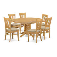 East West Furniture AVVA7-OAK-C Sunset Trading Co Selections Round Dinette Table Winners Only Quails Run 5 Piece Pedestal And 42 Ding With 4 Side Chairs Shown In Rustic Hickory Brown Maple An Asbury Finish Oak Set Rustica 54 W What I Want For My Kitchena Small Round Pedestal Table Archivist Crown Mark Camelia Espresso Glass Top Family Wood Kitchen Room Breakfast Fniture Modern Unique Sets Design Models New Traditional Cophagen 3piece Cinnamon