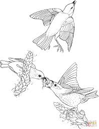Blue Bird Flying Coloring Page