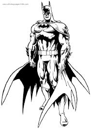 Batman Color Page