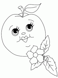 Peach2 Fruit Coloring Pages