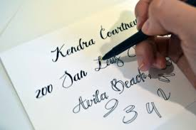 Addressing Envelopes With Pointed Pen Calligraphy YouTube