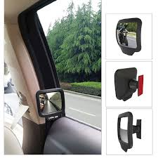 AUMOHALL 2pcs Adjustable Blind Spot Mirrors Rearview Mirror Stick Wide Angle Car Rv Truck Van Side View Convex Self Adhesive In Interior From