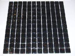 galaxy black glitter glass mosaic tile for bathroom kitchen