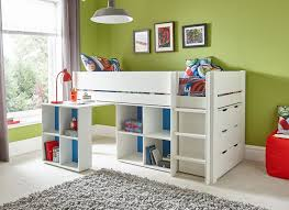 Canwood Whistler Junior Loft Bed White by Tinsley Midsleeper With Storage Desk And Chest Of Drawers White