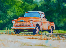 This Watercolor Painting Of An Old Chevy Truck Titled