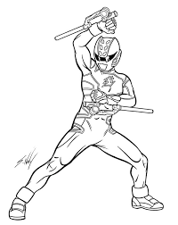 Draw Power Rangers Coloring Pages 19 On Print With