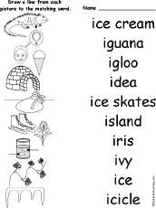 Letter I Alphabet Activities at EnchantedLearning