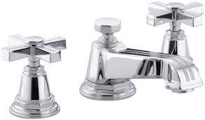 Kohler Purist Widespread Lavatory Faucet by Kohler Pinstripe Widespread Bathroom Sink Faucet With Cross