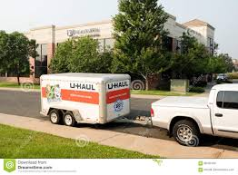 U-Haul Cargo Trailer Editorial Stock Image. Image Of Equipment ...
