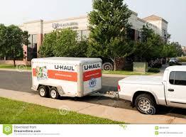100 Moving Truck Rental Company UHaul Cargo Trailer Editorial Stock Image Image Of