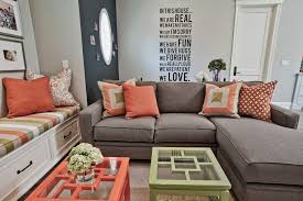 coral throw pillows mode other metro contemporary living room