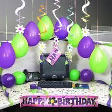 birthday decorations for a am office cubicle office desks