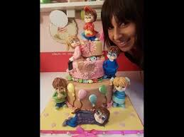 Alvin And The Chipmunks Cake Decorations by Tutorial In Pasta Di Zucchero Alvin Youtube
