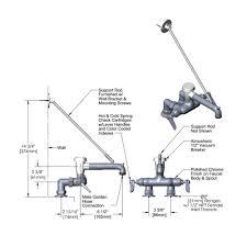 t s b 0667 ww pol wall mount polished chrome service sink faucet