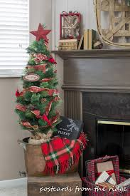 Christmas Trees At Kmart by Christmas Family Room Mantel With At Home Stores Postcards From