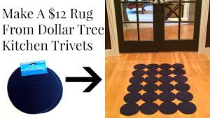 dollar tree 12 rug from woven trivets diy