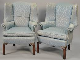 Ethan Allen Chippendale Wingback Chair by Auction Catalog U2013 Nadeau U0027s Auction Gallery