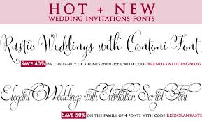 Wedding Fonts With Coupon Codes To Save Money Perfect For Rustic And Elegant Weddings