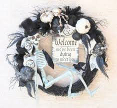Grandin Road Halloween Wreath by Skeleton Halloween Wreath Skeleton Wreath Halloween Decor