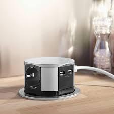 prise electrique pour cuisine bloc escamotable 3 prises 2 chargeurs usb compactes otio