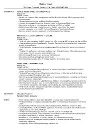 Sales Operations Manager Resume Samples