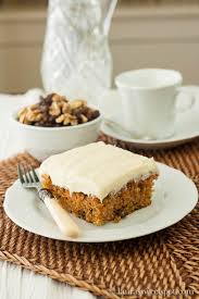 This particular Carrot Cake s an extra boost of moisture from crushed pineapple Some variations use applesauce others neither depending solely on