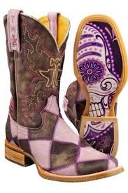Tin Haul Sugar Cube Boots With Sugar Skull Sole Urban Western Wear