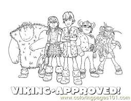 Viking Group Coloring Page